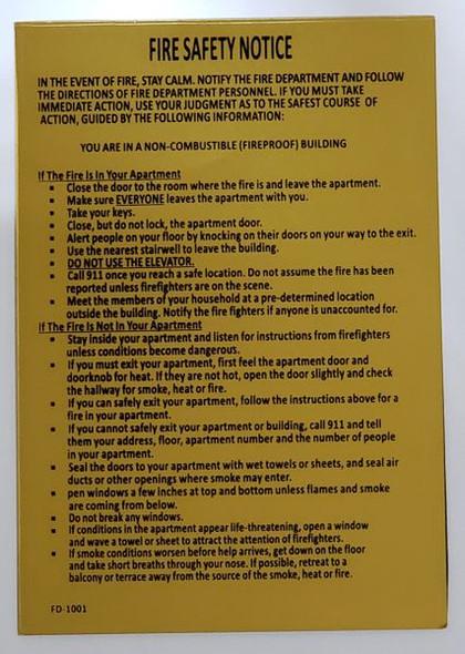 DOOR Fire Safety Notice Dob SIGN