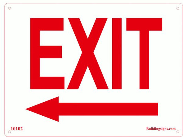 Exit Left Sign