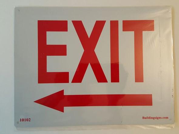 Exit Left HPD Sign