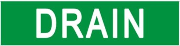 DRAIN Sign (STICKER) GREEN