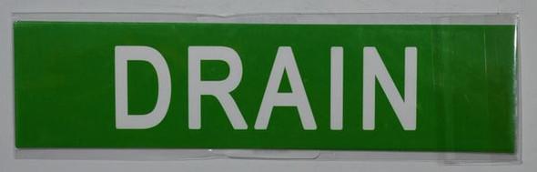 DRAIN SIGN Green
