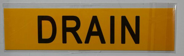 DRAIN Signage (STICKER) (Yellow)