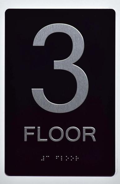 3rd FLOOR SIGN ADA -Tactile Signs    Ada sign