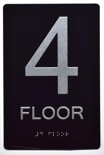 4th FLOOR SIGN ADA -Tactile Signs   Ada sign