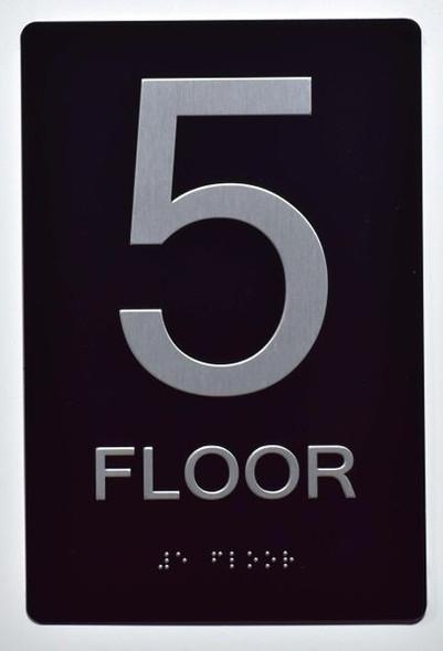 5th FLOOR SIGN ADA -Tactile Signs   Ada sign