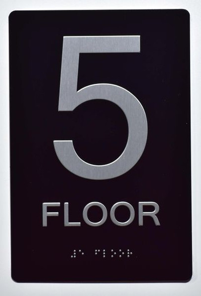 5th FLOOR SIGN ADA -Tactile Signs    Braille sign