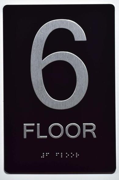 6th FLOOR SIGN ADA -Tactile Signs   Ada sign