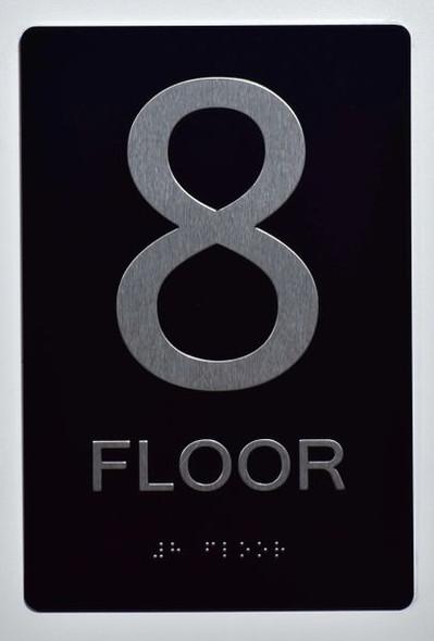 8th FLOOR SIGN ADA -Tactile Signs   Ada sign
