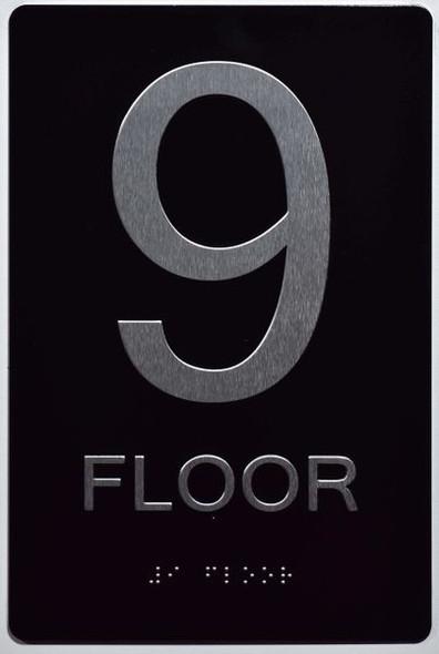 9th FLOOR SIGN ADA -Tactile Signs   Ada sign