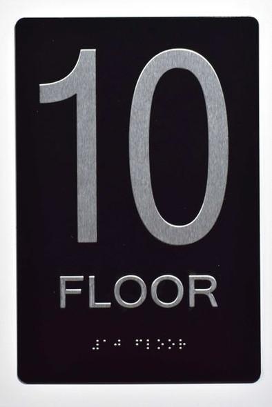10th FLOOR SIGN ADA -Tactile Signs   Ada sign