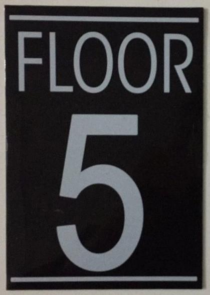 FLOOR NUMBER FIVE (5) SIGN