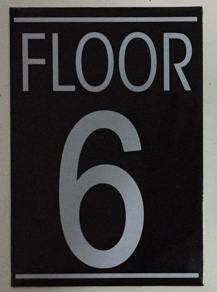 FLOOR NUMBER SIX (6) Signage