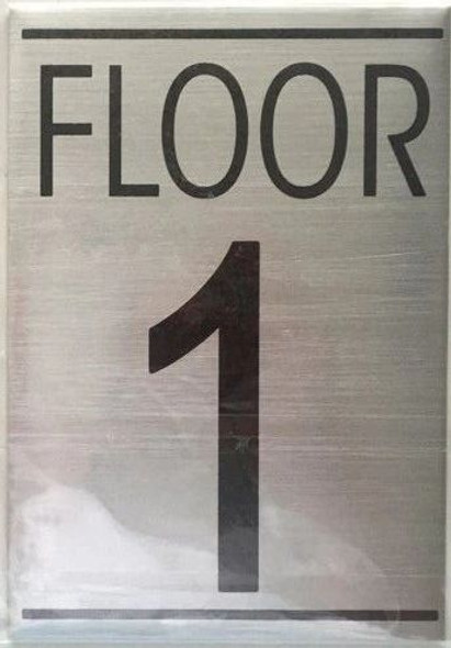 FLOOR NUMBER ONE (1) Signage