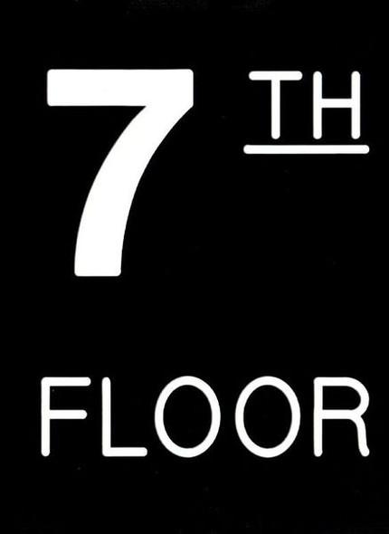 Floor number Seven (7) Sign Engraved Plastic (FLOOR Sign.)