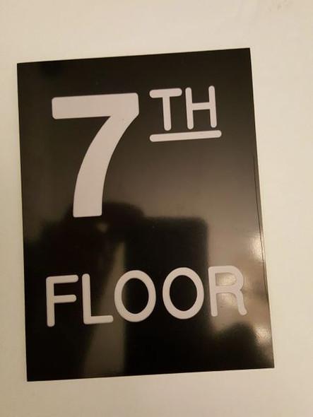 Floor number Seven (7) Signage Engraved Plastic (FLOOR Signage.)