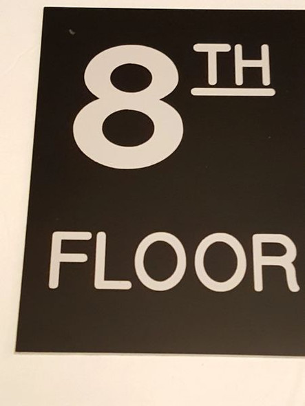 Floor number Eight (8) HPD sign