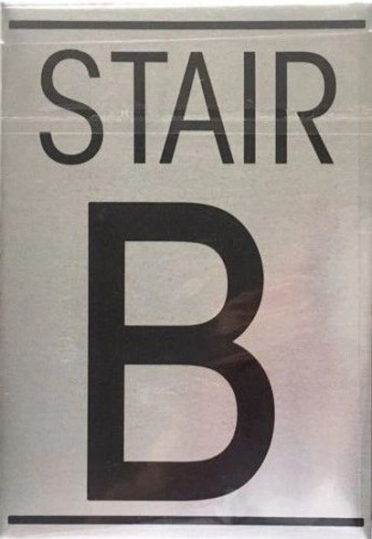 FLOOR NUMBER Sign - STAIR B Sign