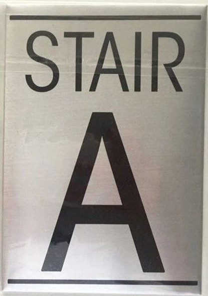 FLOOR NUMBER Sign - STAIR A Sign