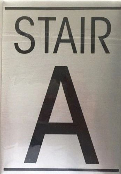 FLOOR NUMBER Signage - STAIR A Signage