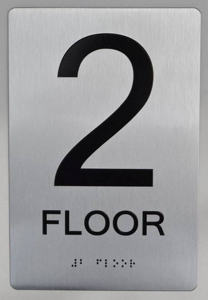 2ND FLOOR  Braille sign -Tactile Signs  The sensation line   Braille sign