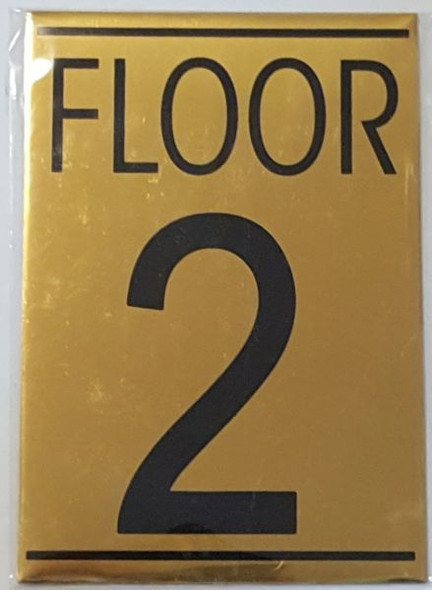FLOOR NUMBER TWO (2) SIGN