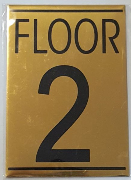FLOOR NUMBER TWO (2) HPD SIGN