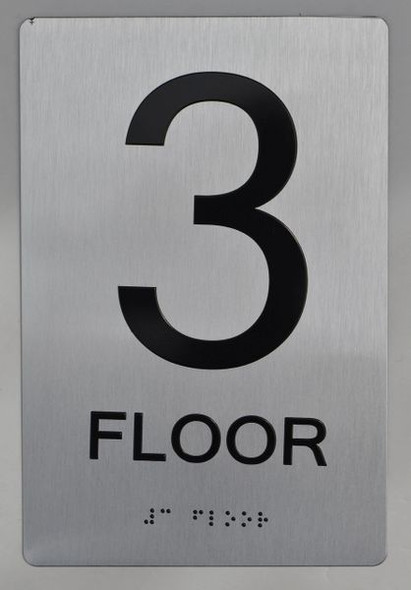 3rd FLOOR  Braille sign -Tactile Signs  The sensation line   Braille sign