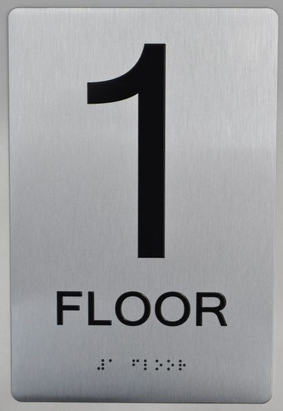 ada silver sign - 1 floor