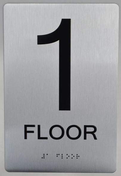 ada silver sign - 1 floor