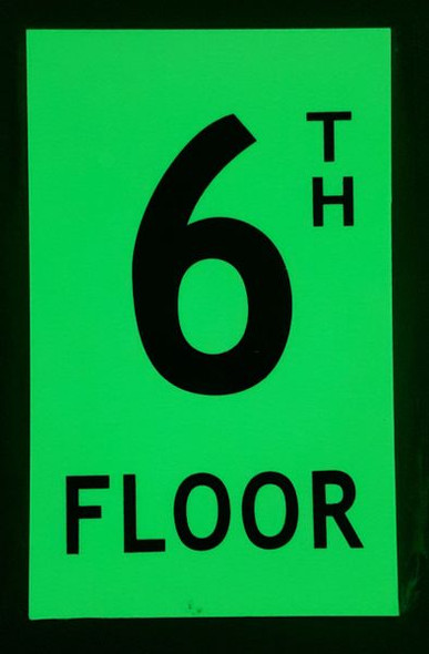 6TH FLOOR SIGN for Building