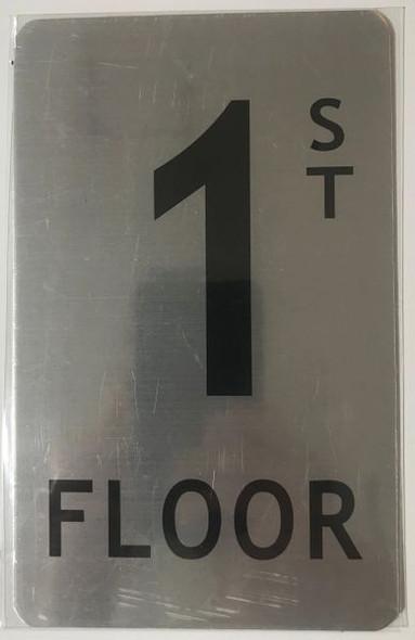 FLOOR NUMBER Sign - 1ST FLOOR Sign
