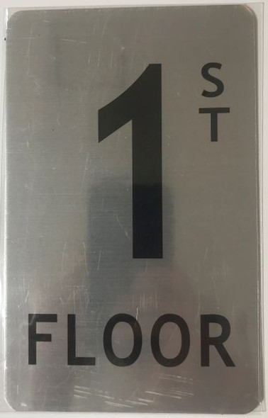 FLOOR NUMBER Signage - 1ST FLOOR Signage