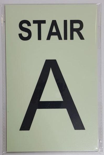 PHOTOLUMINESCENT STAIR A SIGN