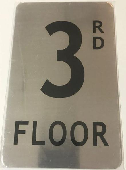 FLOOR NUMBER Sign -RD FLOOR Sign