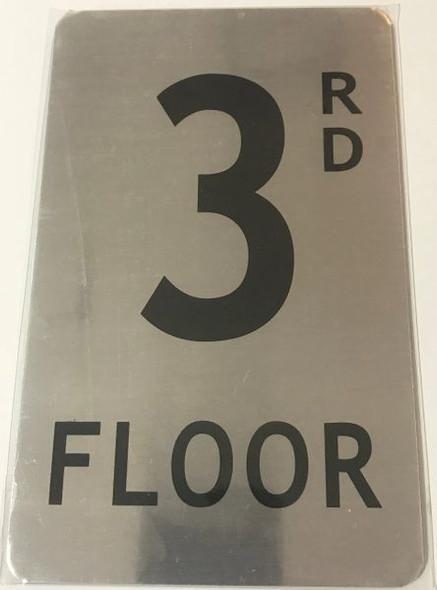 FLOOR NUMBER Signage -RD FLOOR Signage