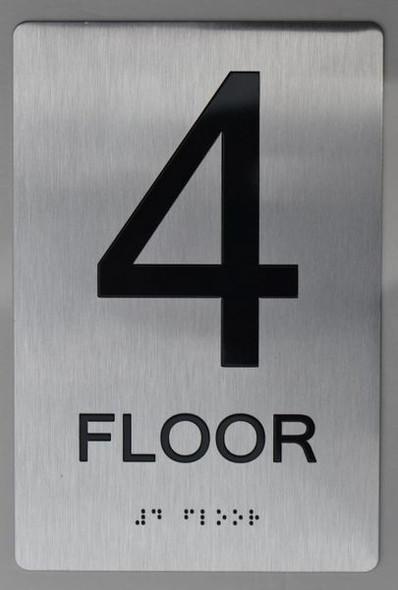4th FLOOR ADA SIGN