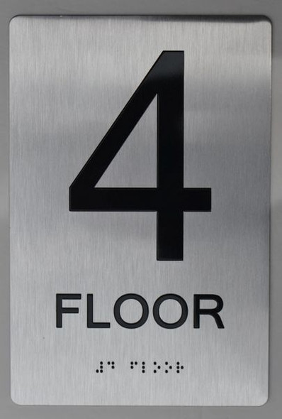 4th FLOOR ADA Sign -Tactile Signs  The sensation line ADA  Ada sign