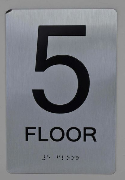 5th FLOOR  Braille sign -Tactile Signs  The sensation line   Braille sign