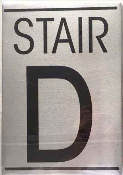 FLOOR NUMBER Sign - STAIR D Sign