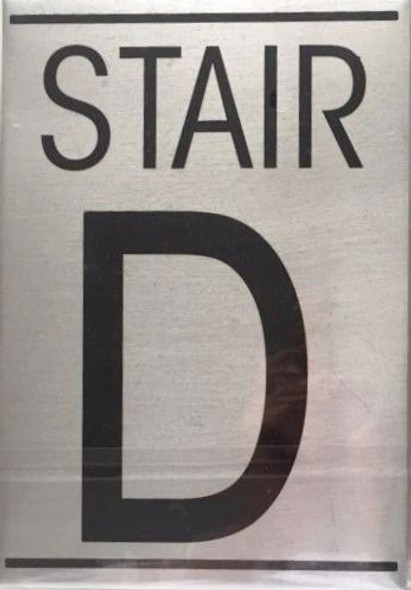 FLOOR NUMBER Signage - STAIR D Signage