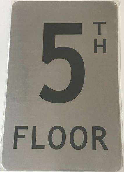 FLOOR NUMBER FIVE (5) Signage - 5TH FLOOR Signage