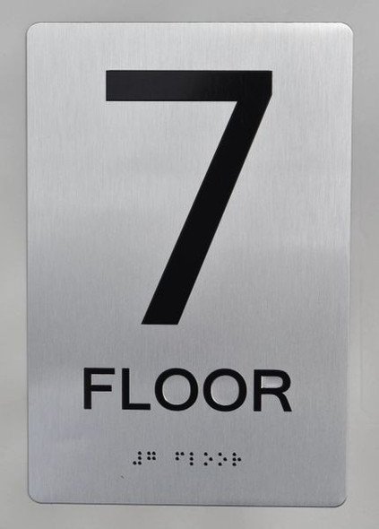 7th FLOOR  Braille sign -Tactile Signs  The sensation line   Braille sign