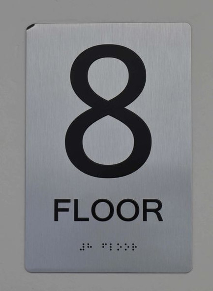 8th FLOOR  Braille sign -Tactile Signs  The sensation line   Braille sign