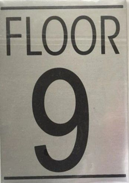 FLOOR NUMBER NINE (9) Signage