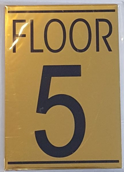 FLOOR NUMBER FIVE (5) Signage