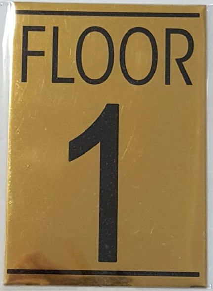 FLOOR NUMBER ONE (1) HPD SIGN
