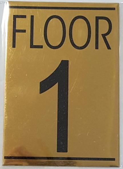 FLOOR NUMBER ONE (1) Signage