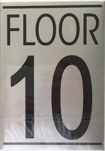 FLOOR NUMBER TEN (10) Signage