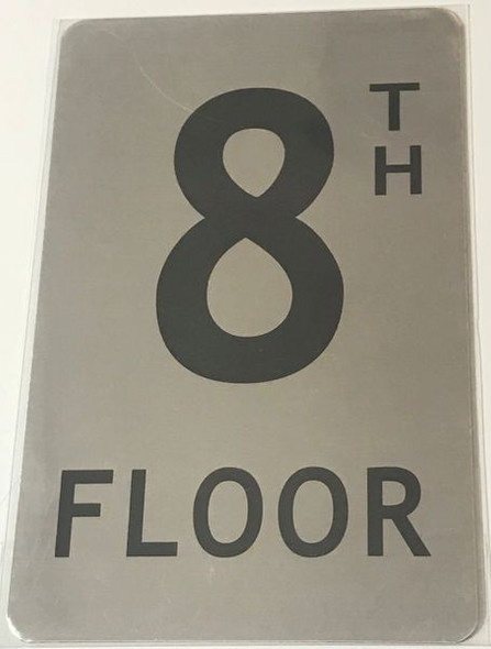 FLOOR NUMBER Signage- 8TH FLOOR Signage