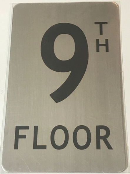 FLOOR NUMBER Sign - 9TH FLOOR Sign